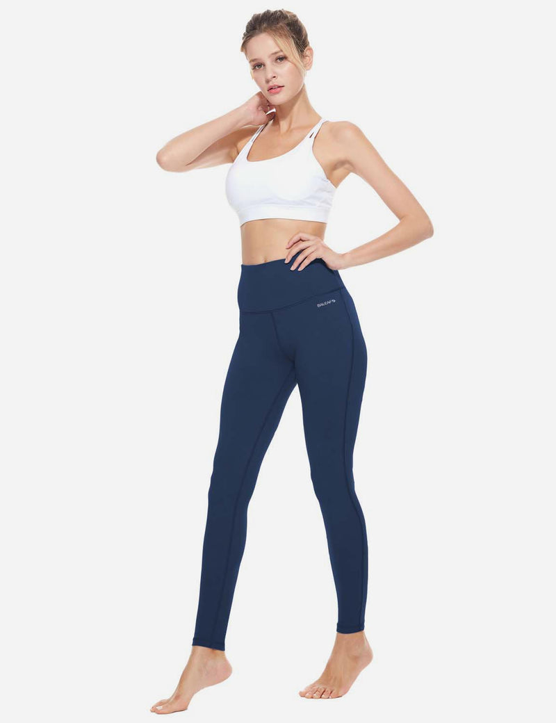 Baleaf Womens High-Rise Thick Waistband Hidden Pocket Countour Leggings Dark Blue details