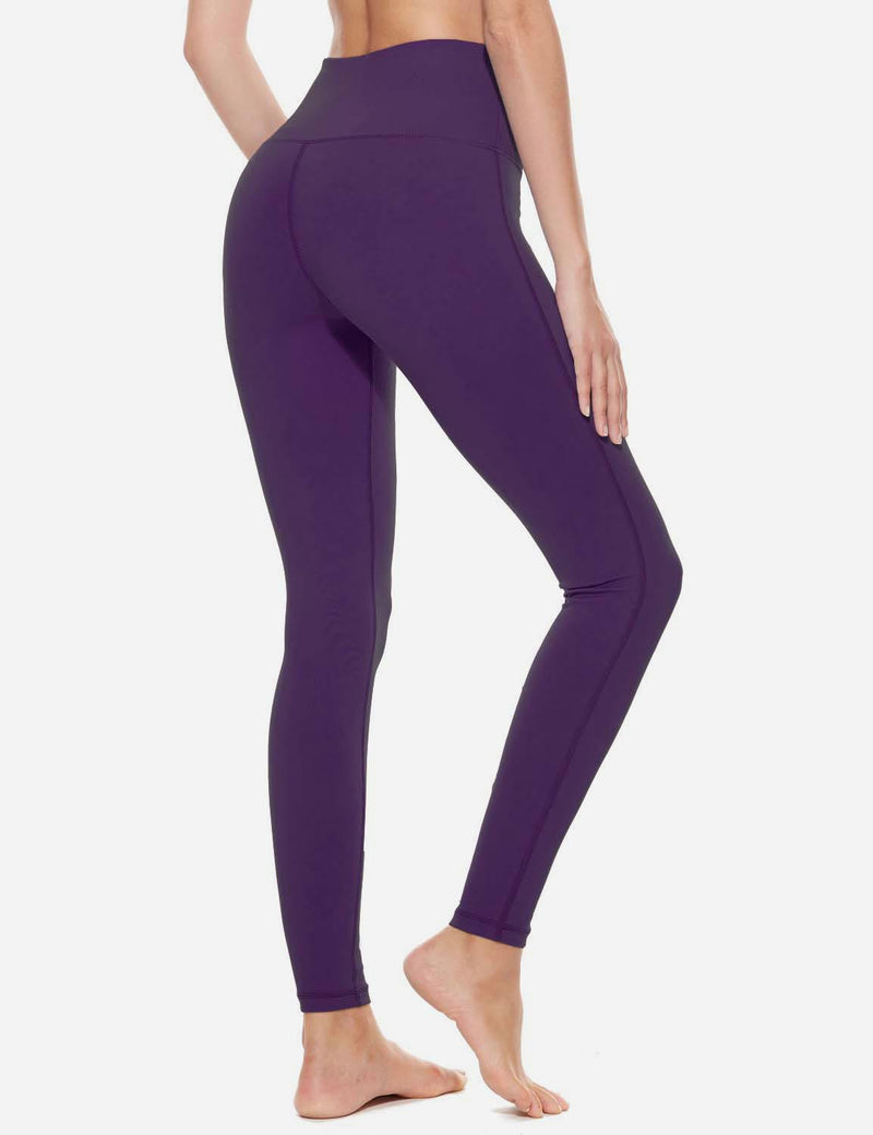 Baleaf Womens High-Rise Thick Waistband Hidden Pocket Countour Leggings Gothic Grape details