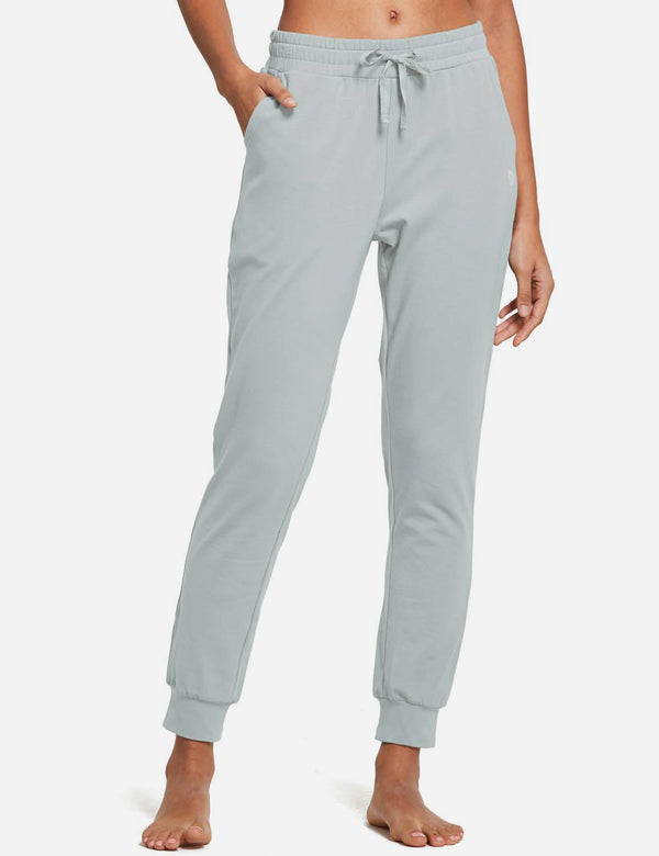 Baleaf Womens Tapered Drawcord Pants IronGray full