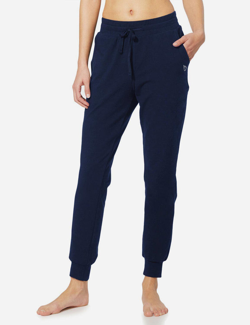 Baleaf Womens Tapered Drawcord Pants navy blue side