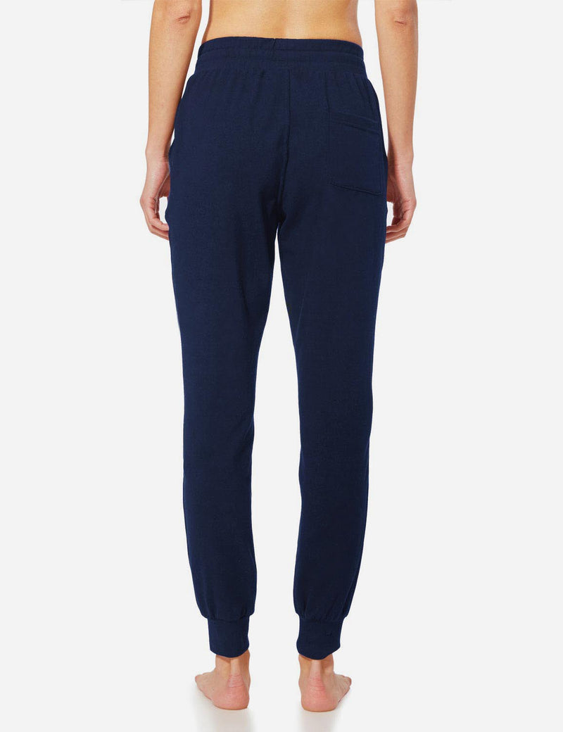 Baleaf Womens Tapered Drawcord Pants navy blue back