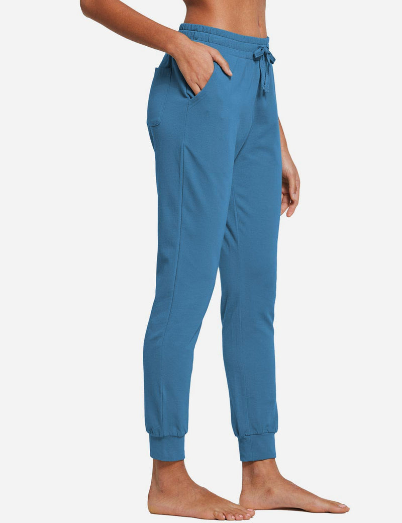Baleaf Womens Tapered Drawcord Pants Copen Blue side