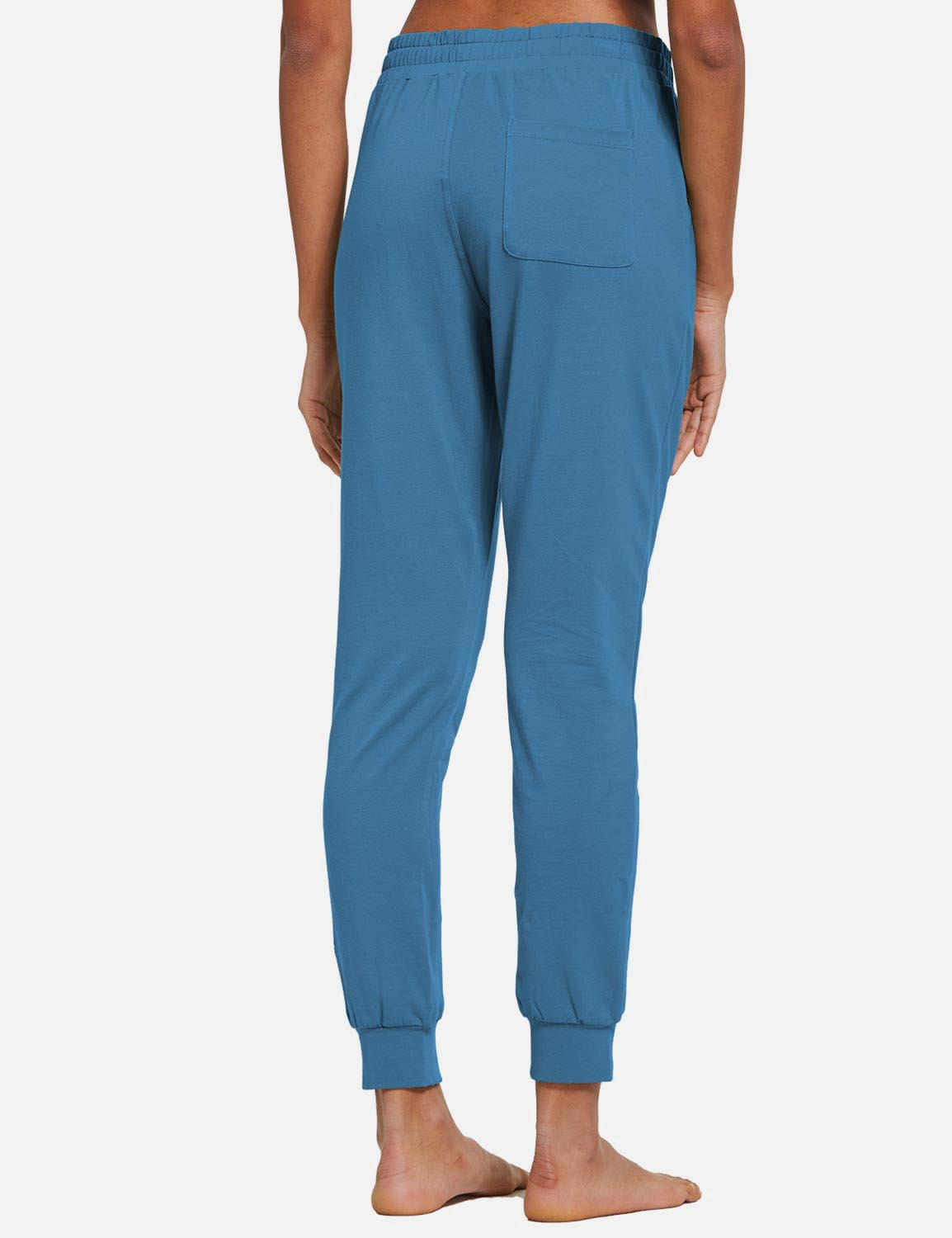 Baleaf Womens Tapered Drawcord Pants Copen Blue back