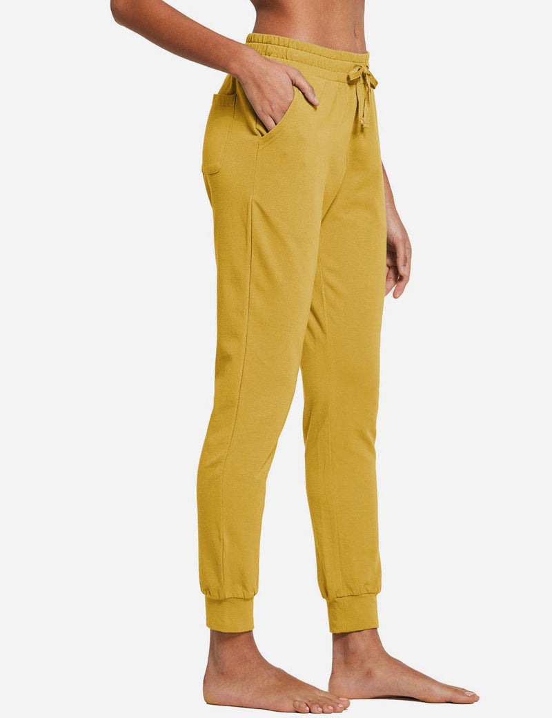 Baleaf Womens Tapered Drawcord Pants Misted Yellow side