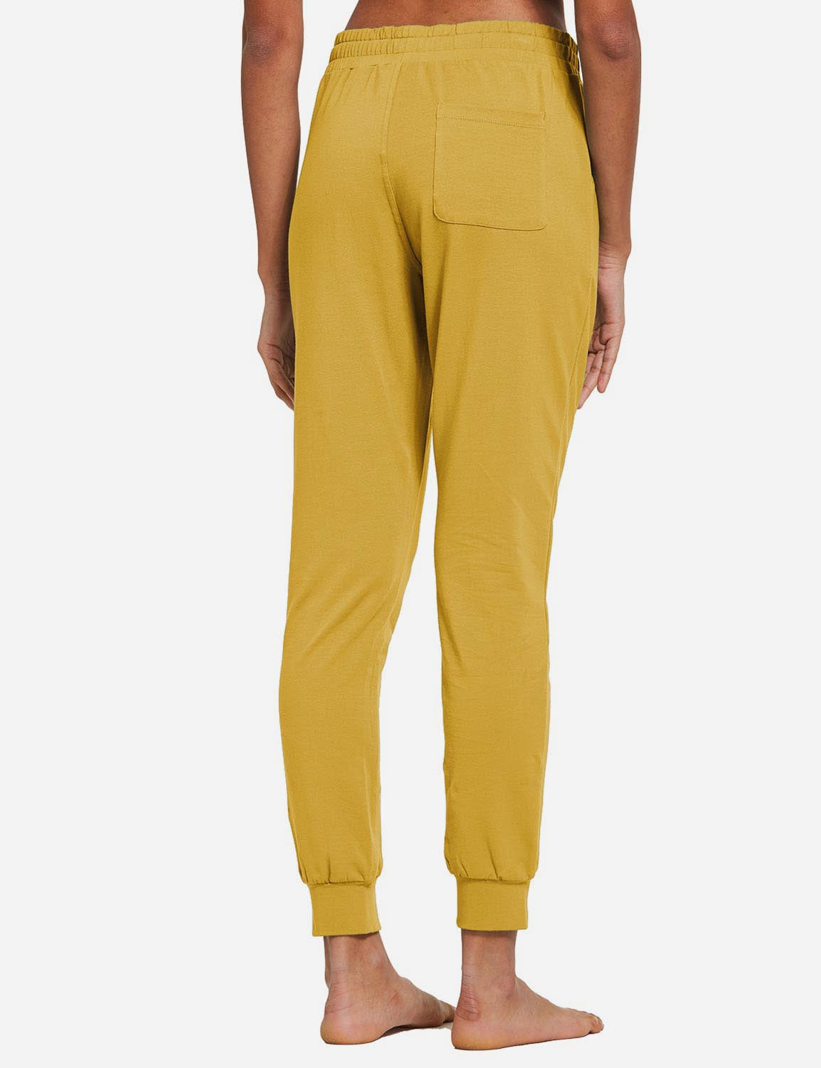 Baleaf Womens Tapered Drawcord Pants Misted Yellow back