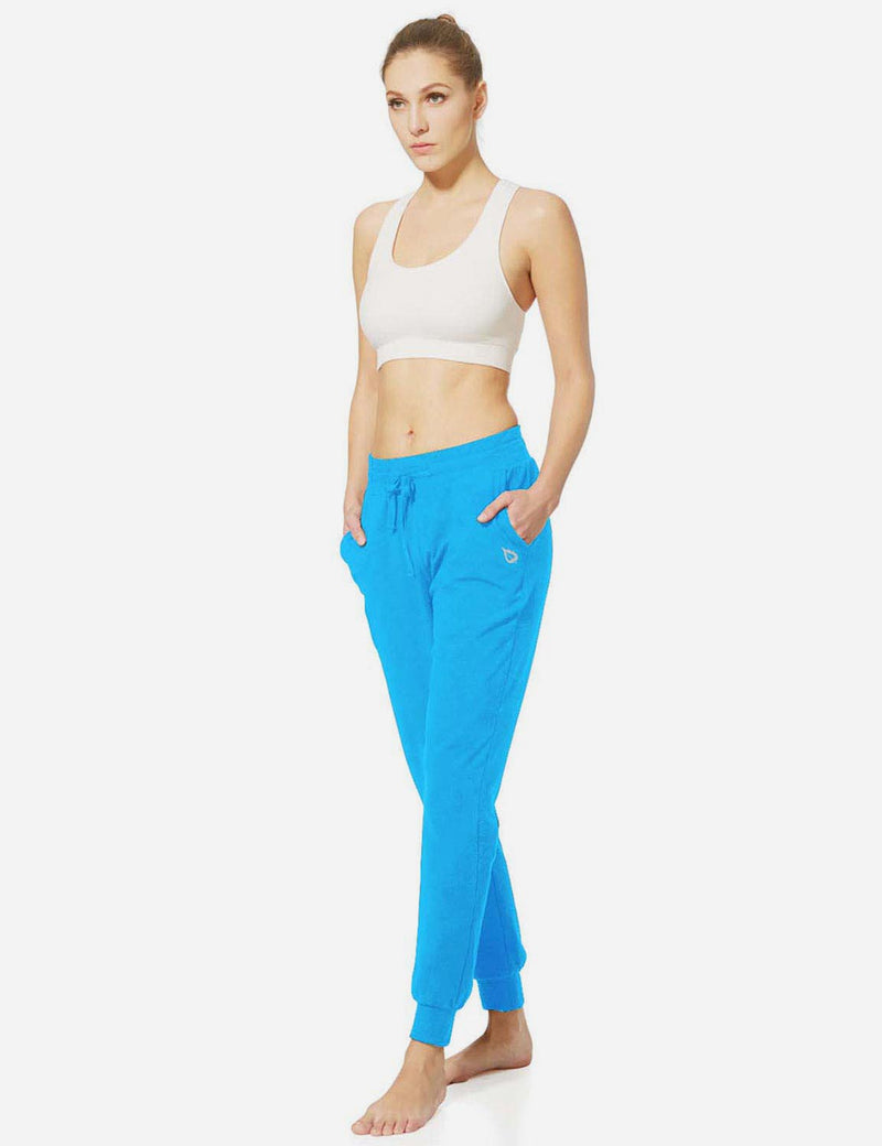 Baleaf Womens Tapered Drawcord Pants lapis blue full