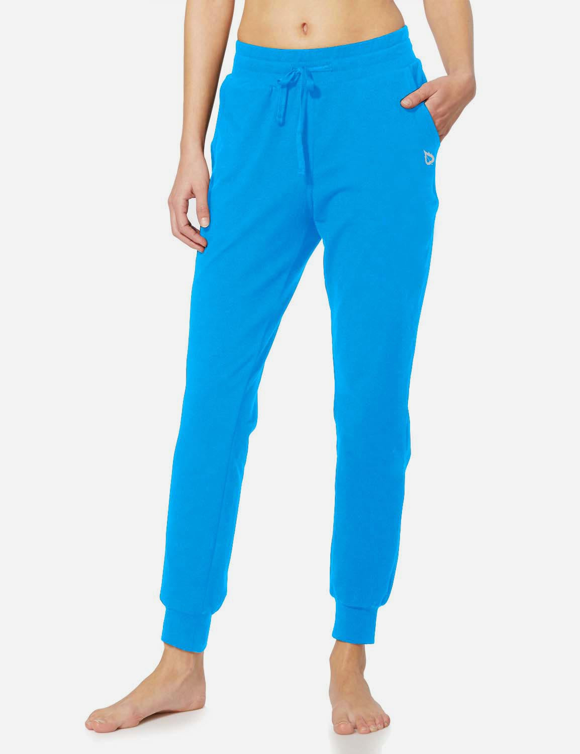 Baleaf Womens Tapered Drawcord Pants blue front