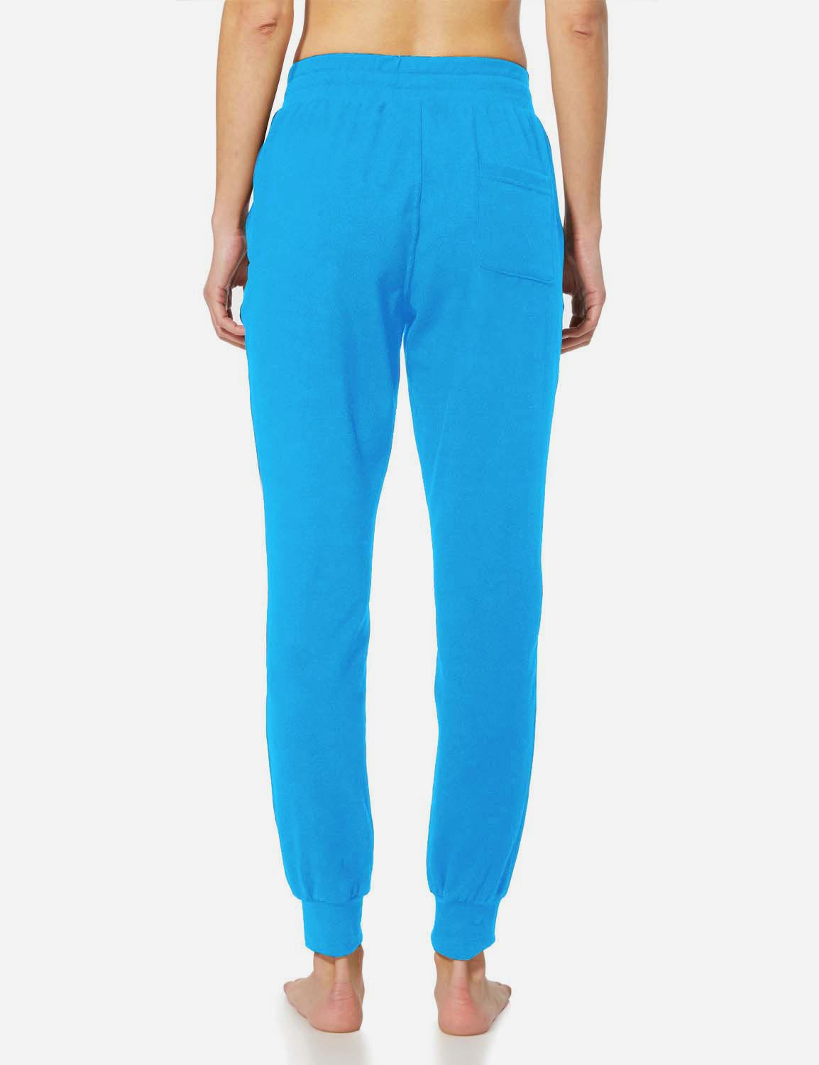 Baleaf Womens Tapered Drawcord Pants blue back