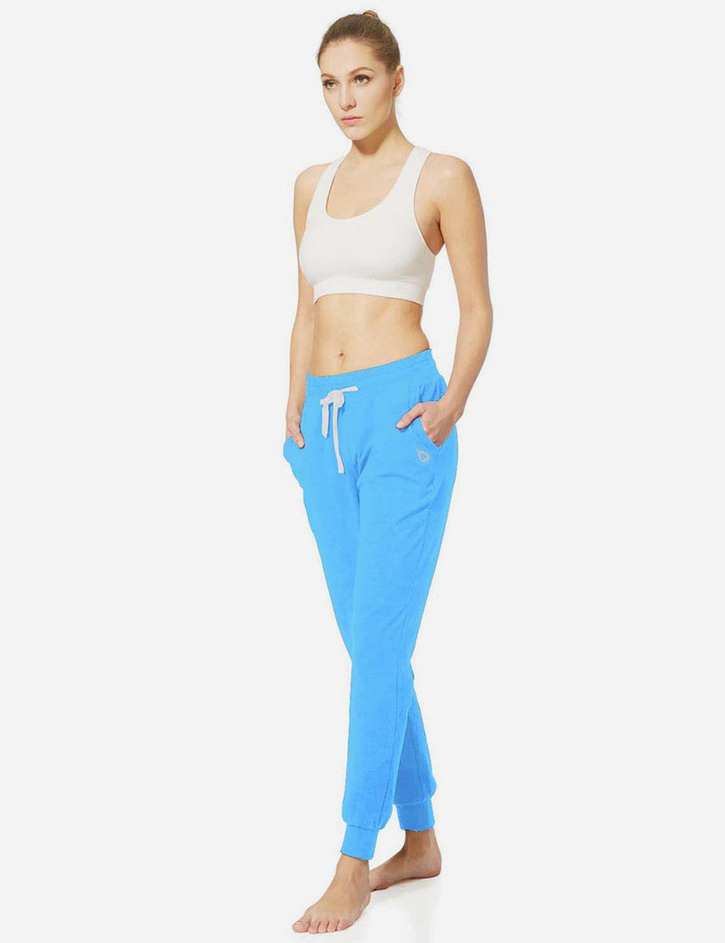 Baleaf Womens Tapered Drawcord Pants light blue full