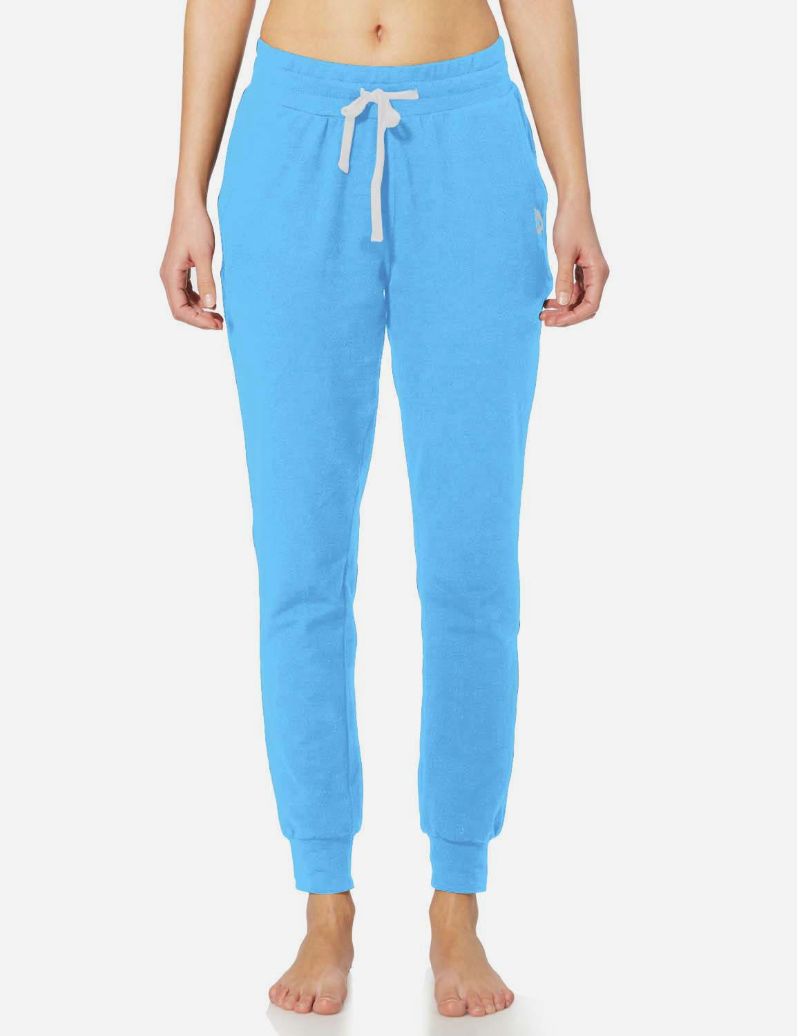 Baleaf Womens Tapered Drawcord Pants light blue front