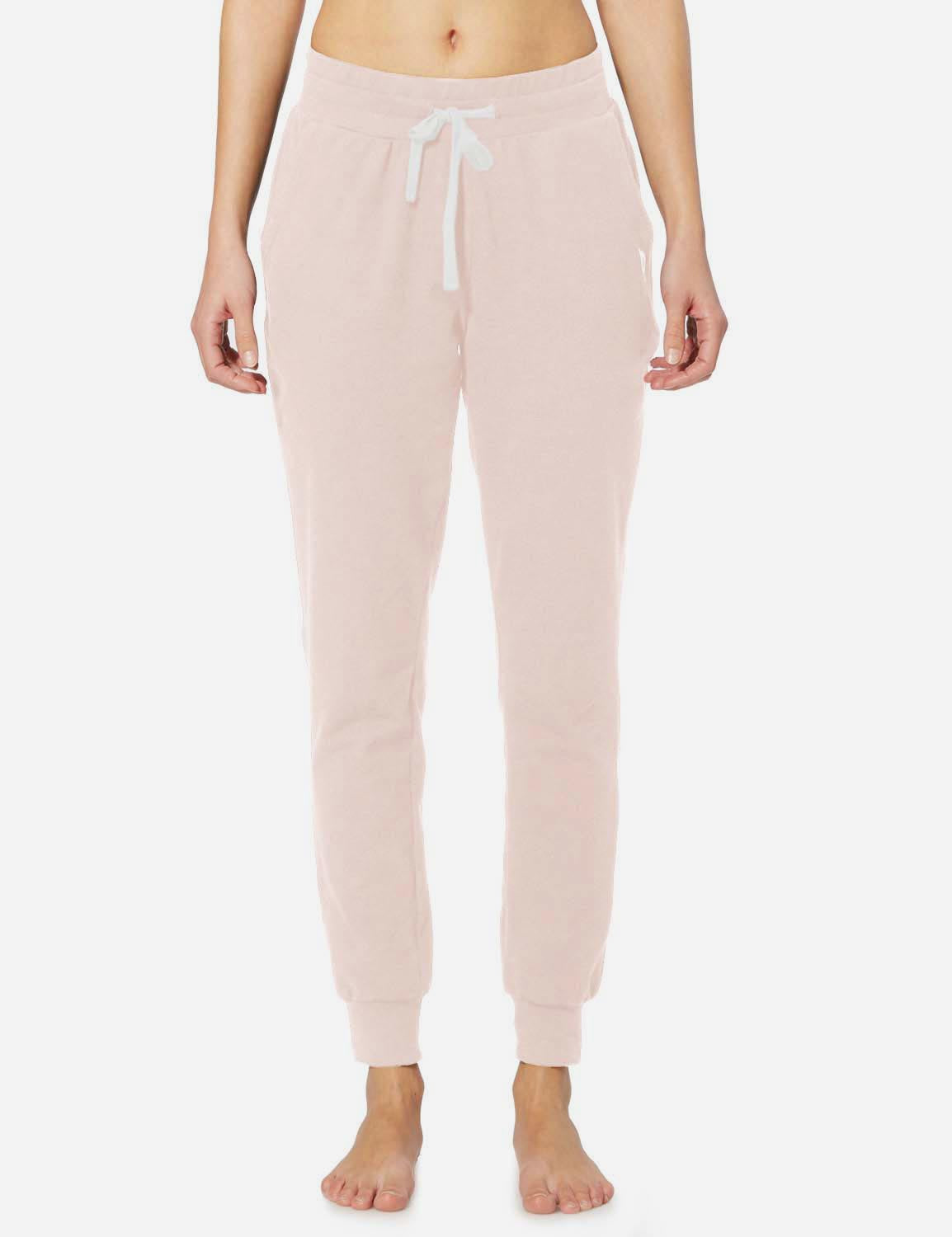 Baleaf Womens Tapered Drawcord Pants light pink front