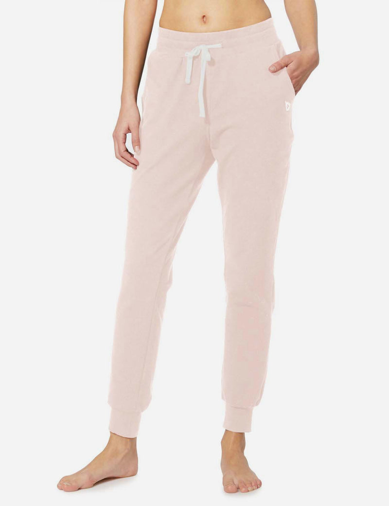 Baleaf Womens Tapered Drawcord Pants light pink side