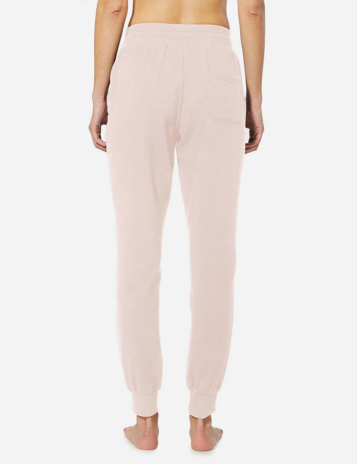 Baleaf Womens Tapered Drawcord Pants light pink back