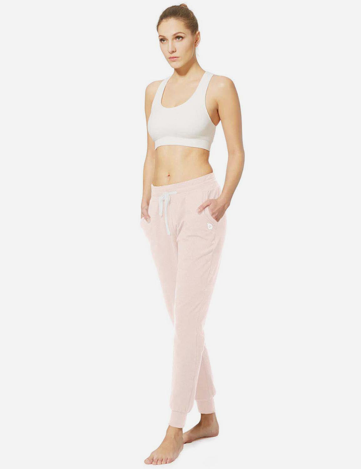 Baleaf Womens Tapered Drawcord Pants burgundy full