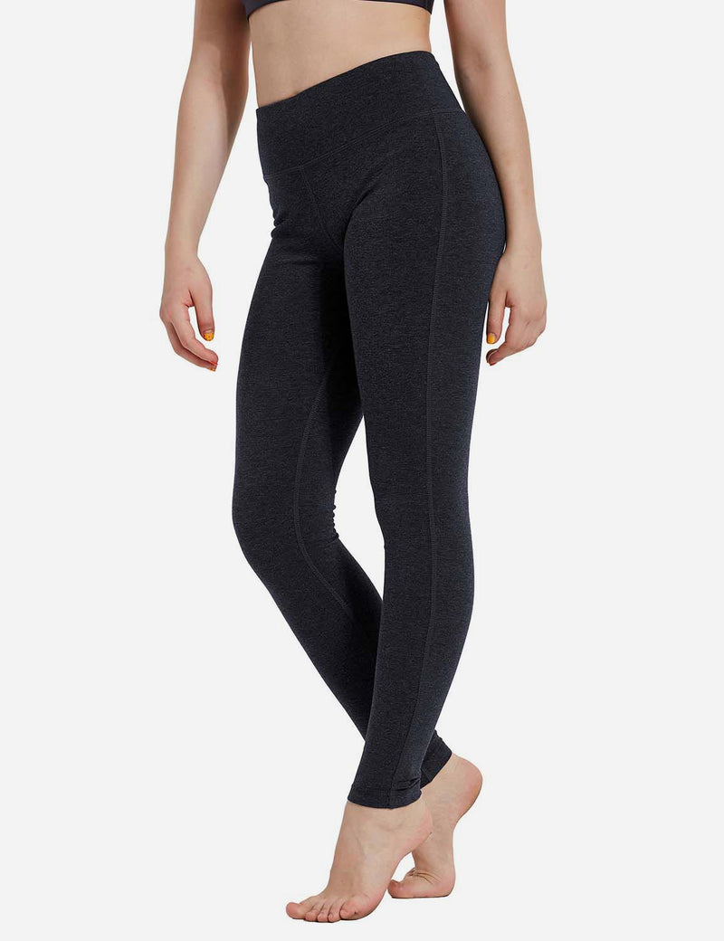 Baleaf Girl's Basic Hidden Pocket Leggings Charcoal side