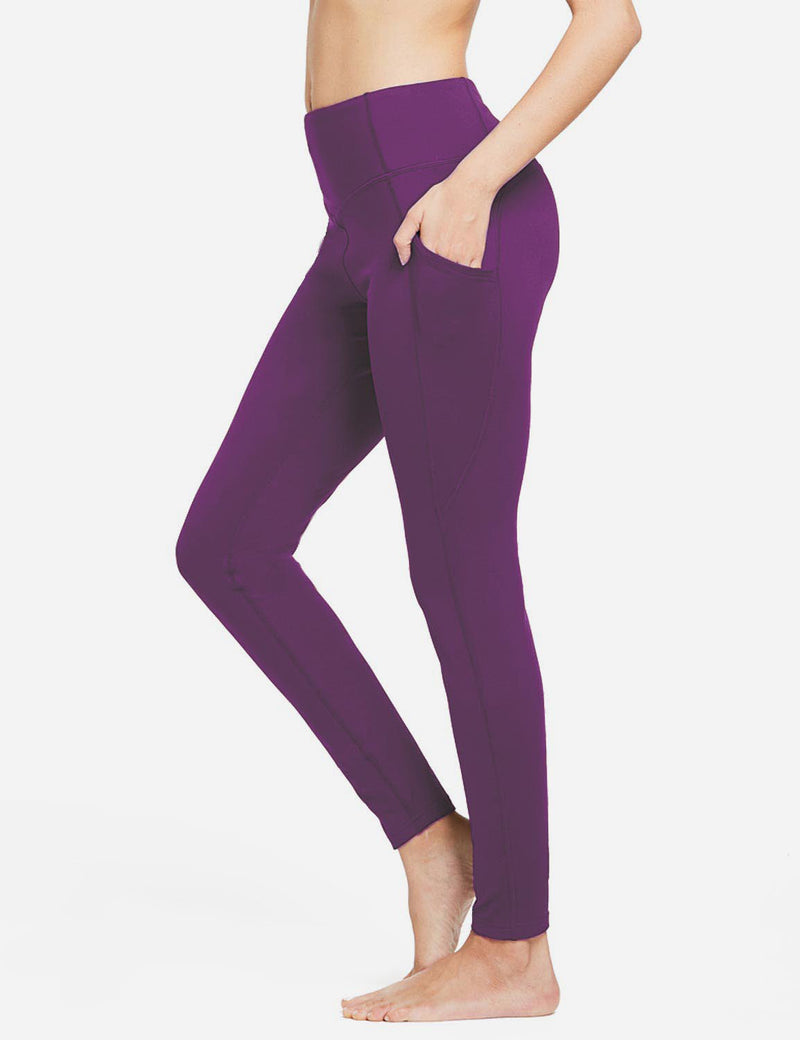 Baleaf Womens Thermal High Waist Fleece Lined Winter Leggings Purple side