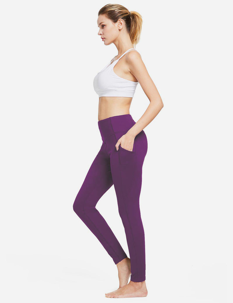 Baleaf Womens Thermal High Waist Fleece Lined Winter Leggings Purple full