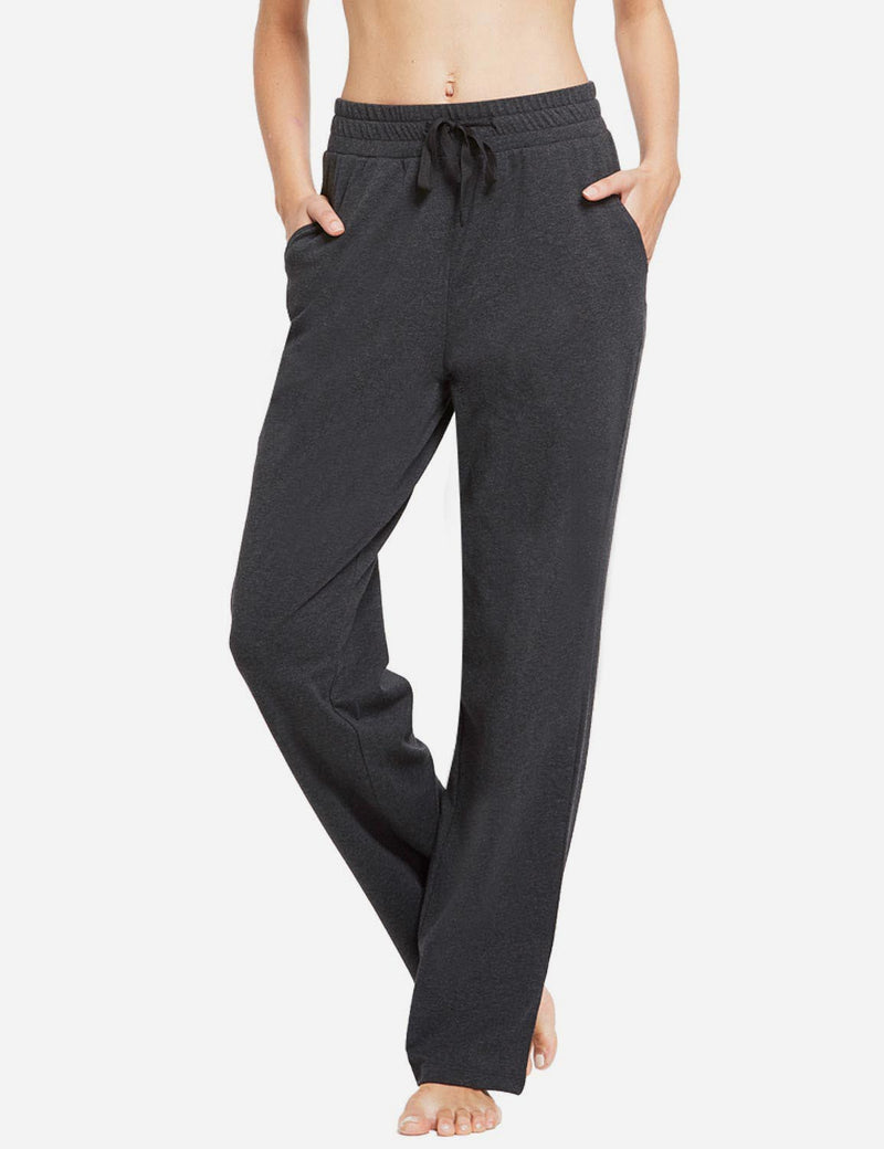 Baleaf Womens Fleece Loose Fit Casual Pocketed Sweat Pants Charcoal front