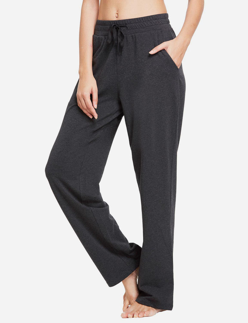Baleaf Womens Fleece Loose Fit Casual Pocketed Sweat Pants Charcoal side