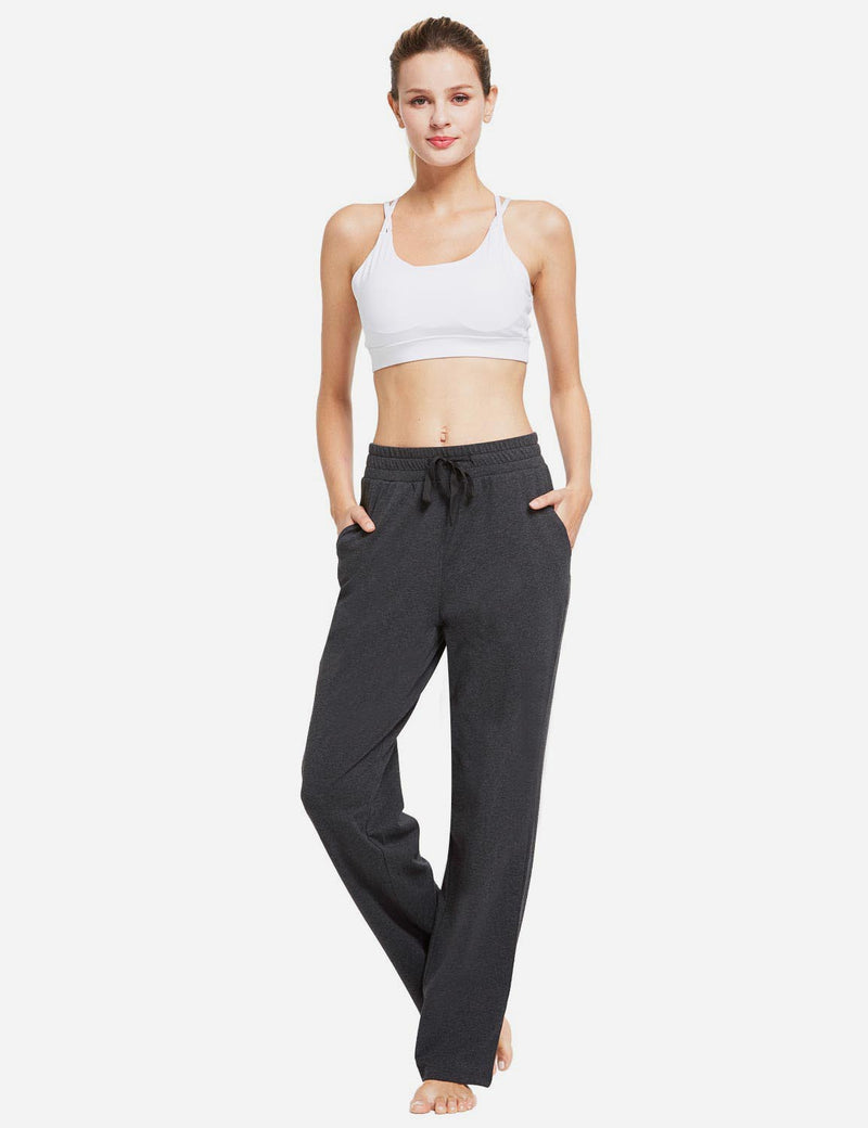 Baleaf Womens Fleece Loose Fit Casual Pocketed Sweat Pants Charcoal full