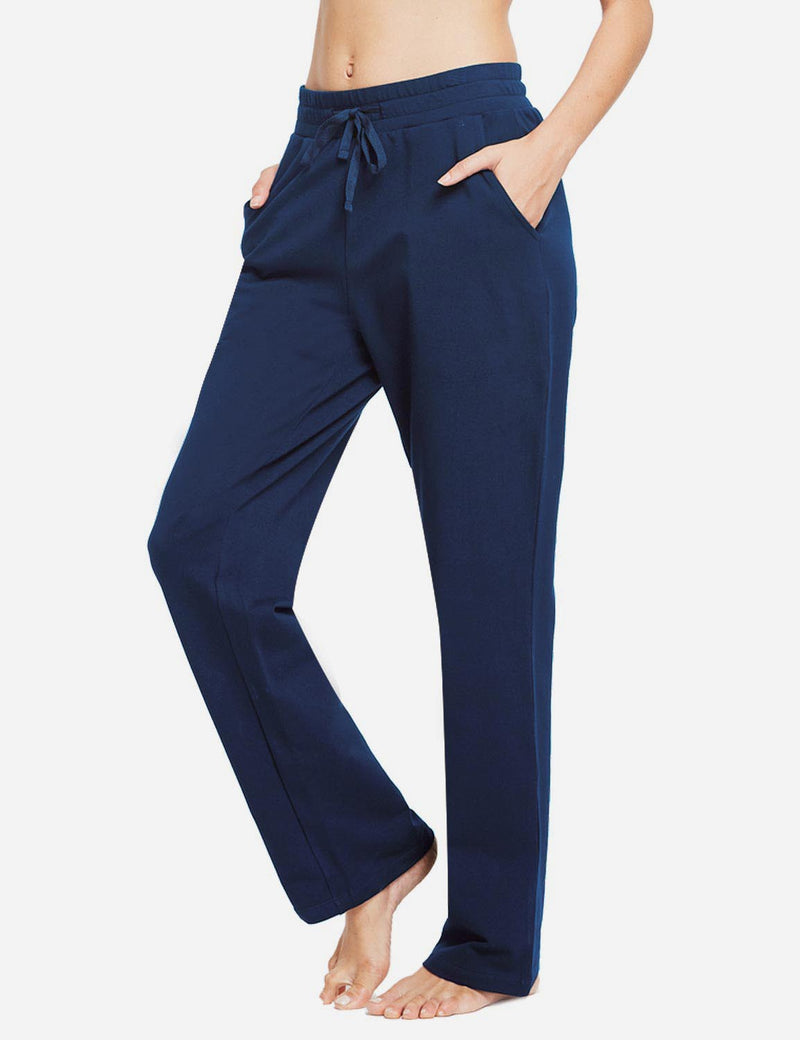 Baleaf Womens Fleece Loose Fit Casual Pocketed Sweat Pants Navy side