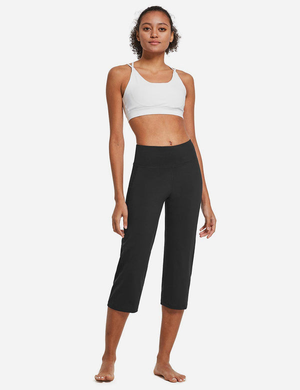High Rise Non-See-Through Pocketed Open End Leggings