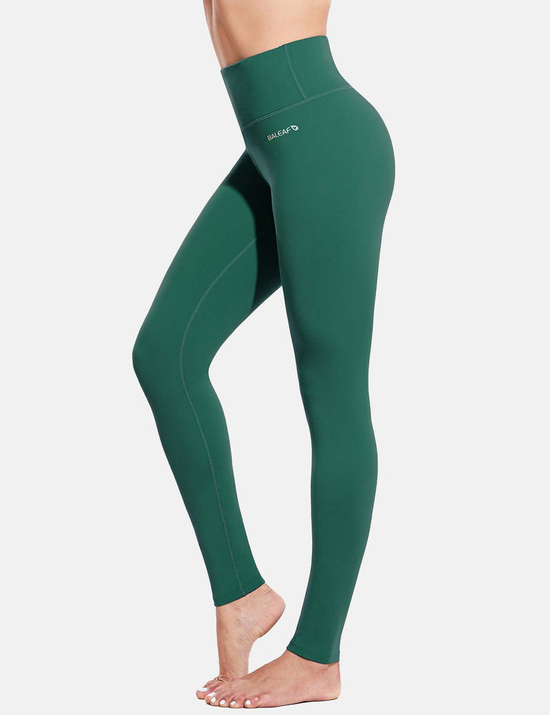 Baleaf Womens Evo High Rise Breathable Hidden Pocket Leggings ForestGreen Side