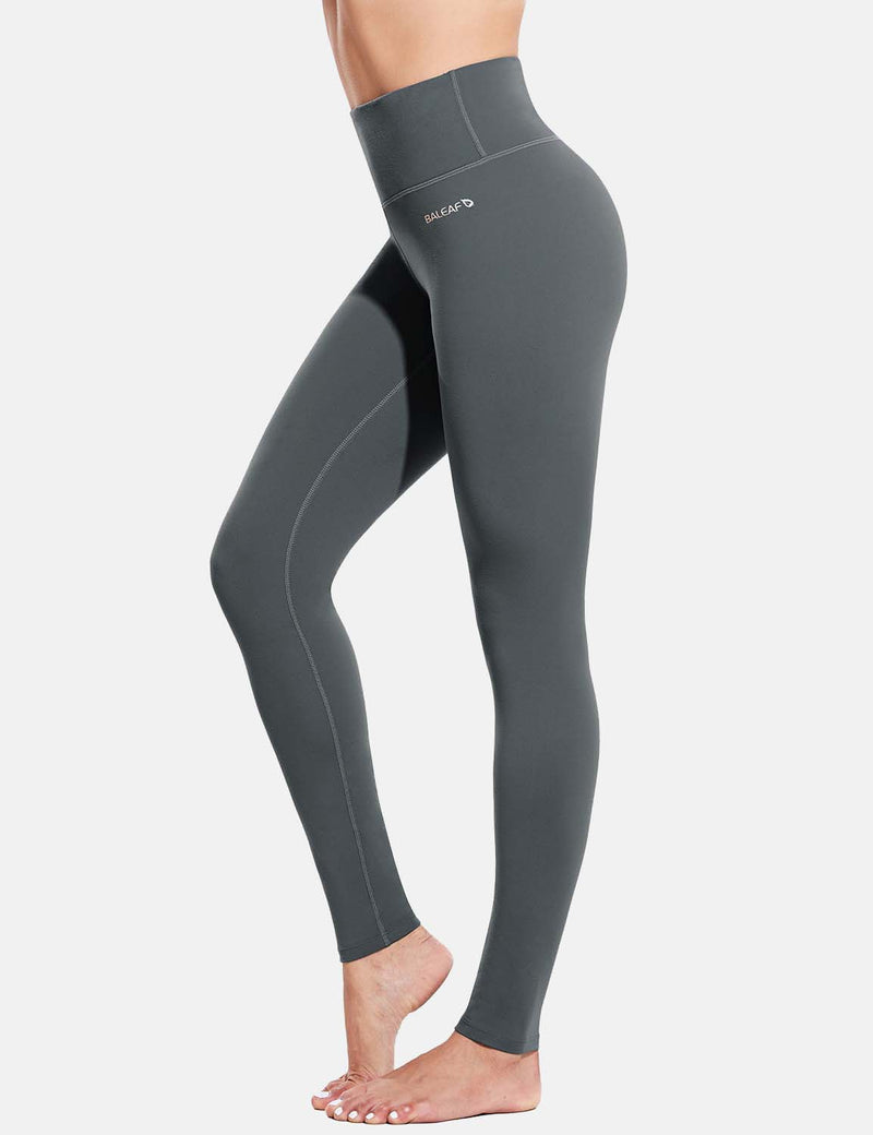 Baleaf Womens Evo High Rise Breathable Hidden Pocket Leggings Gray Side