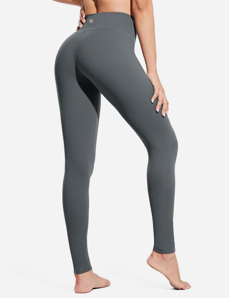 Baleaf Womens Evo High Rise Breathable Hidden Pocket Leggings Gray back