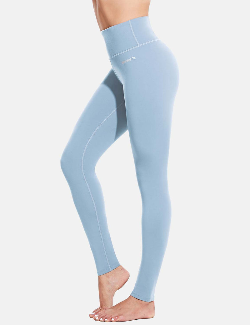 Baleaf Womens Evo High Rise Breathable Hidden Pocket Leggings LightBlue side