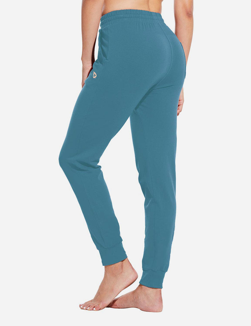 Baleaf Womens Evo Loose-Fit Tapered Cuffs Pocketed Comfortable Joggers Copen Blue Back