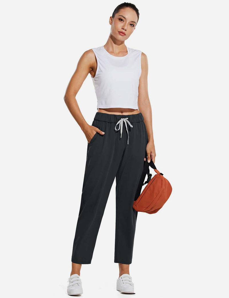 Baleaf Women Tapered Pocketed Ankle Length Causal Pants Black FullBaleaf Tapered Pocketed Ankle Length Causal Pants Navy