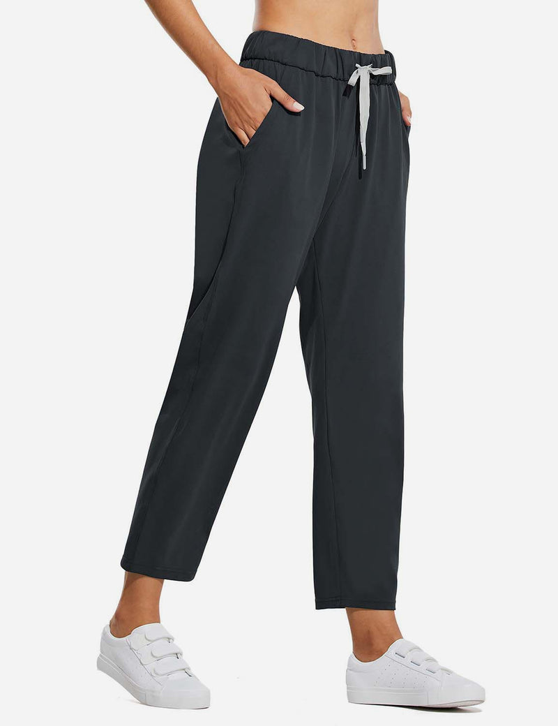 Baleaf Women Tapered Pocketed Ankle Length Causal Pants Black SideBaleaf Tapered Pocketed Ankle Length Causal Pants Navy