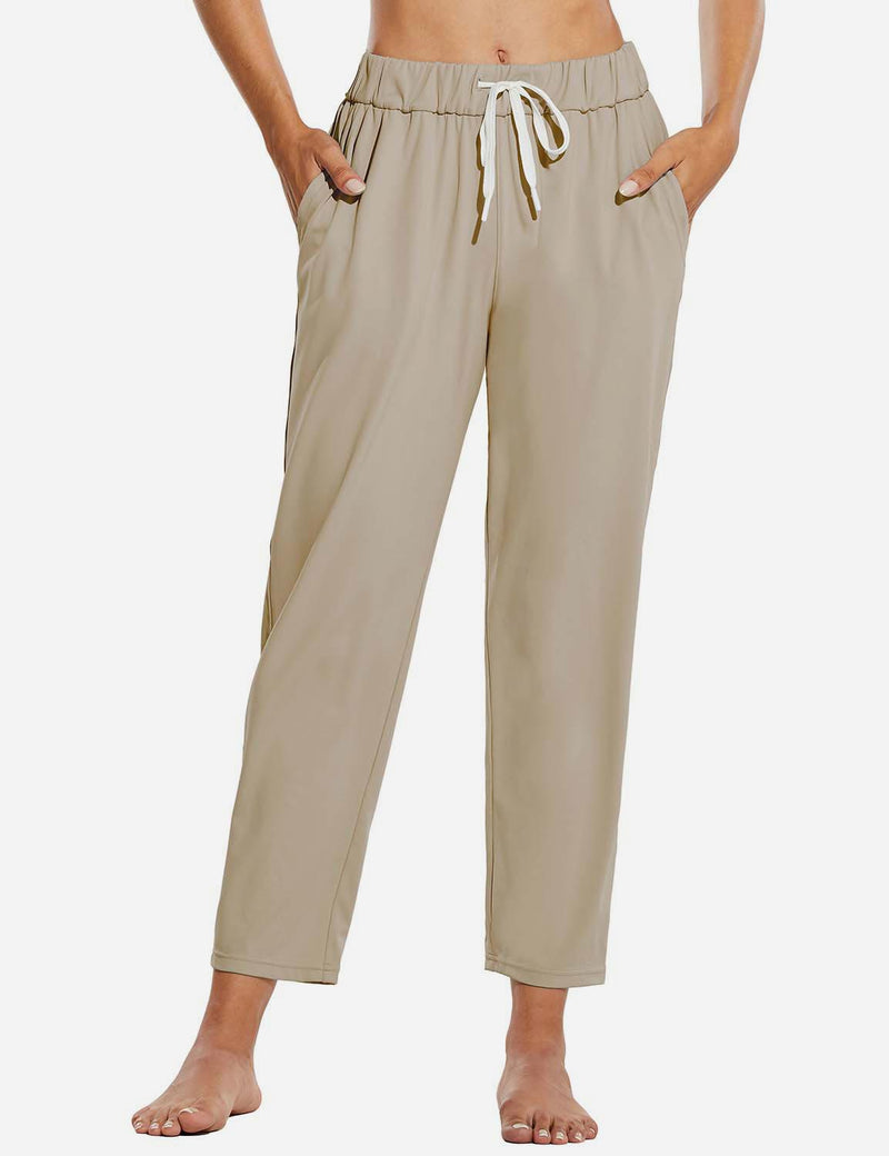 Tapered Pocketed Ankle Length Causal Pants
