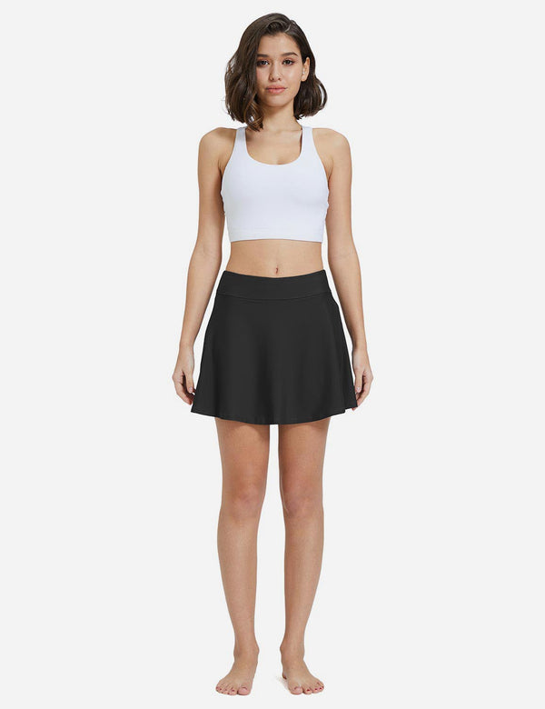 Baleaf Women Side Pocket Basic Skort black full
