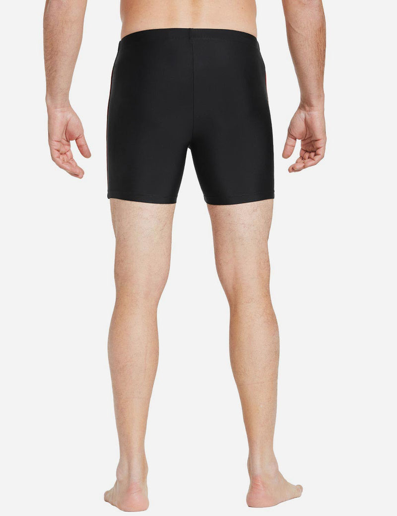 Baleaf Men Square-Leg Classic Shorts black orange side