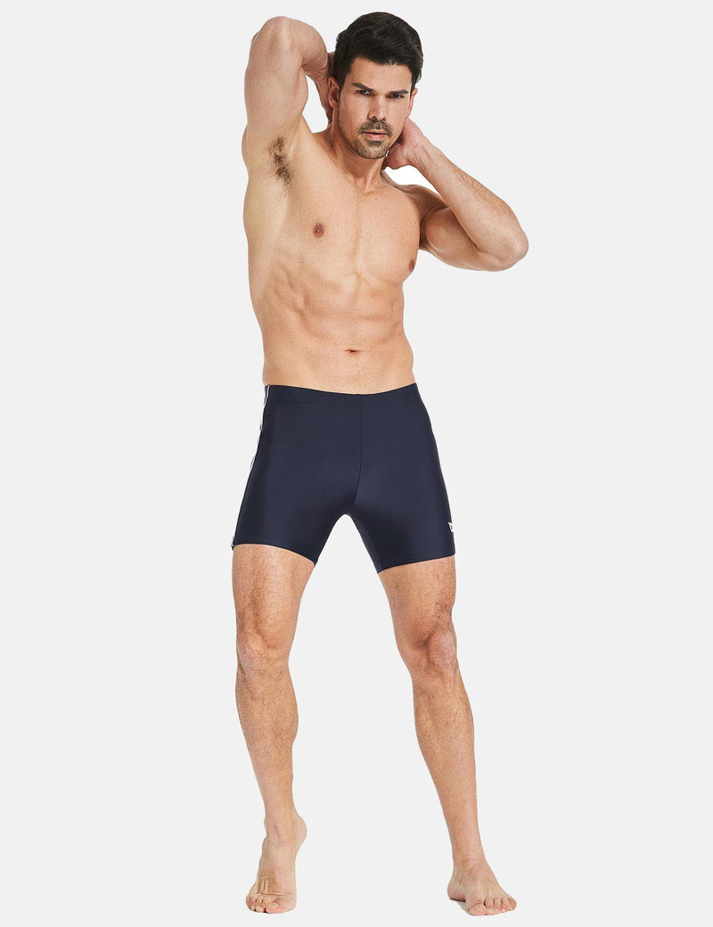 Baleaf Mens' Athletic Swim Jammers Quick Dry Compression Square Leg Swim Brief Swimsuit