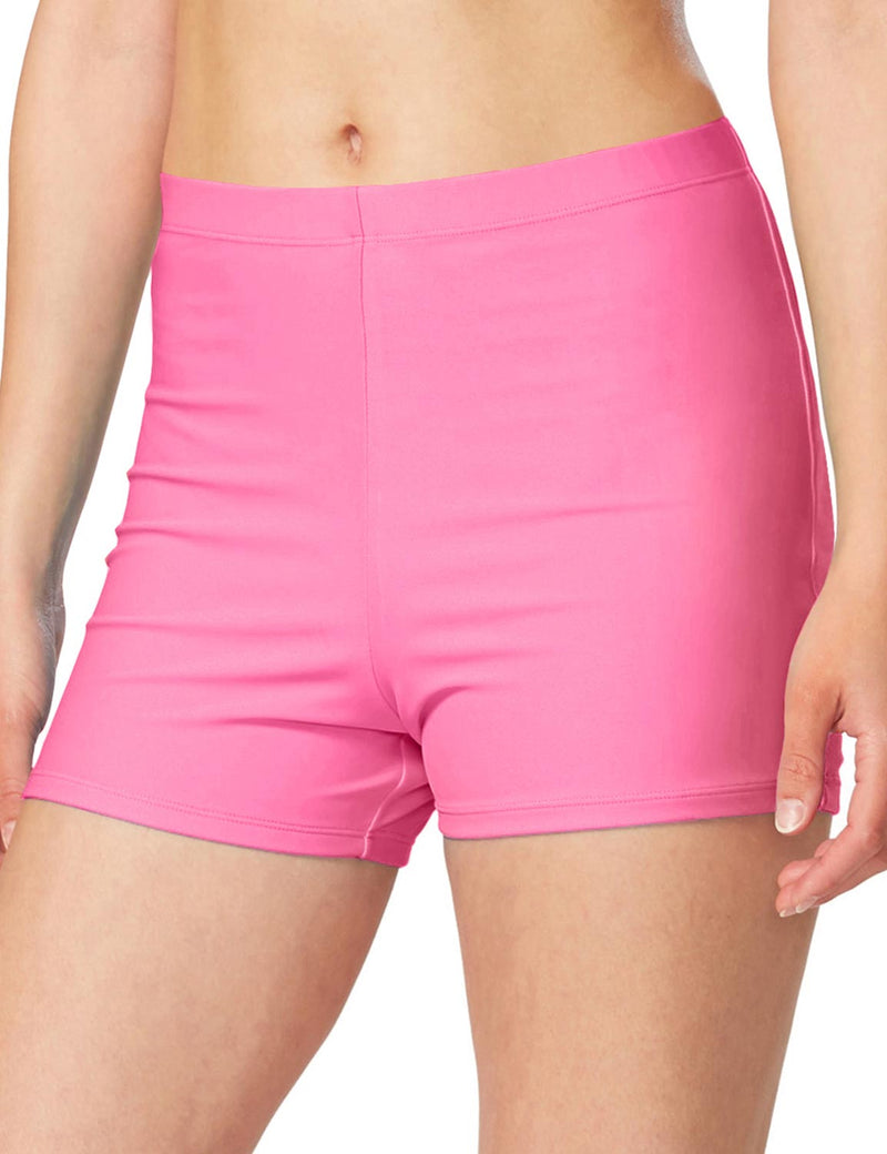 "Baleaf Women 3"" Fully Lined Basic Shorts pink front"