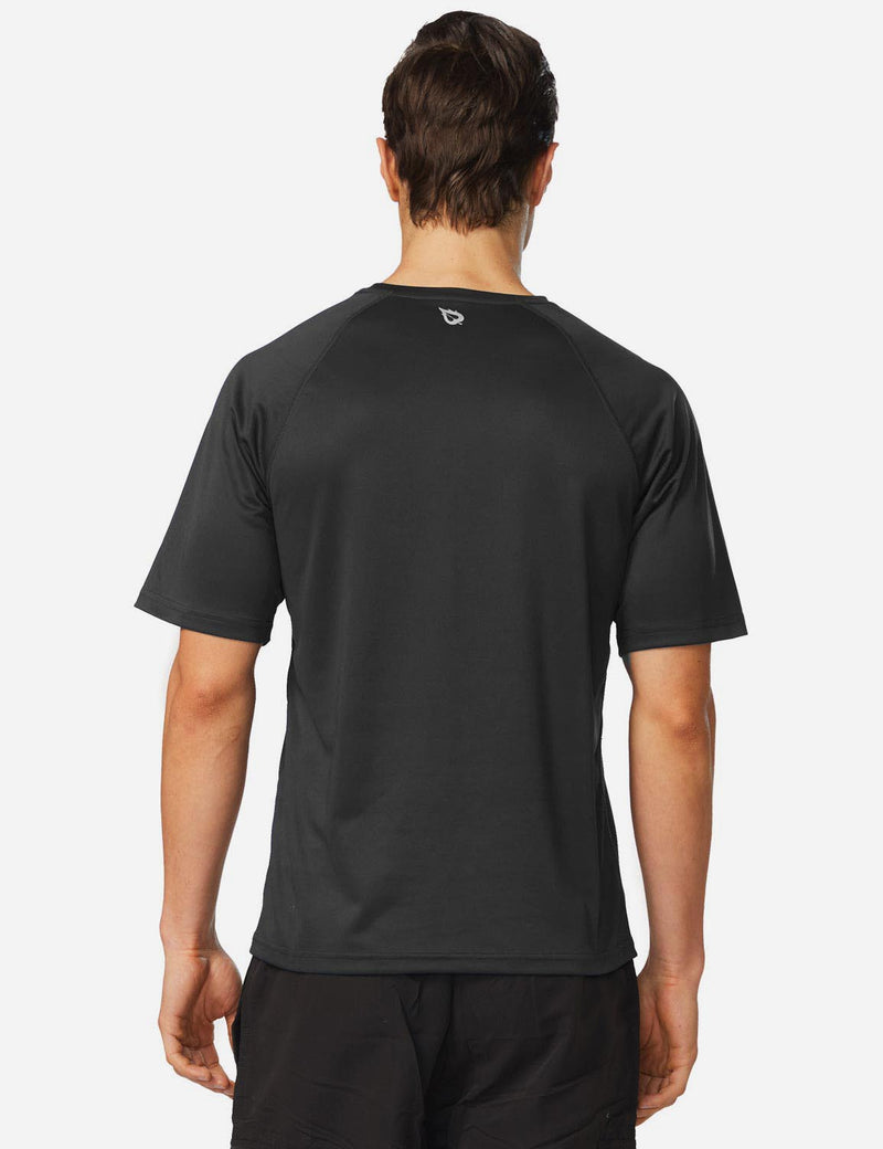 Baleaf Men UPF 50+ Lightweight & Quick-Dry Polyester T-shirt black back