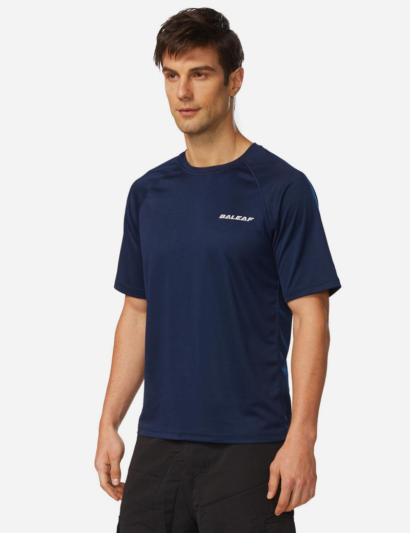 Baleaf Men UPF 50+ Lightweight & Quick-Dry Polyester T-shirt navy side