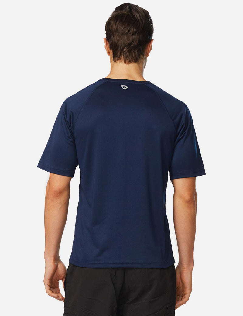 Baleaf Men UPF 50+ Lightweight & Quick-Dry Polyester T-shirt navy back