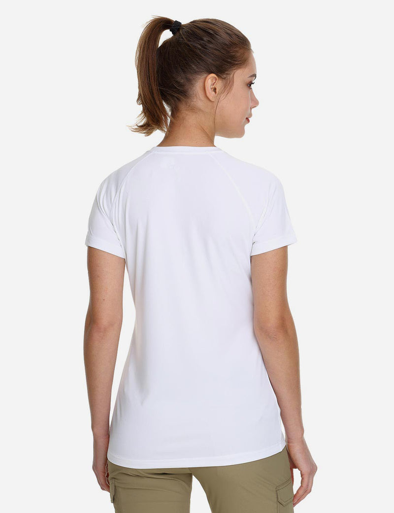 Baleaf Womens UPF 50+ Solid Color Casual T-shirts light green back