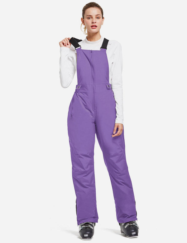 Baleaf Women Insulated Snowboard & Ski Bib One Piece Overall Purple Front