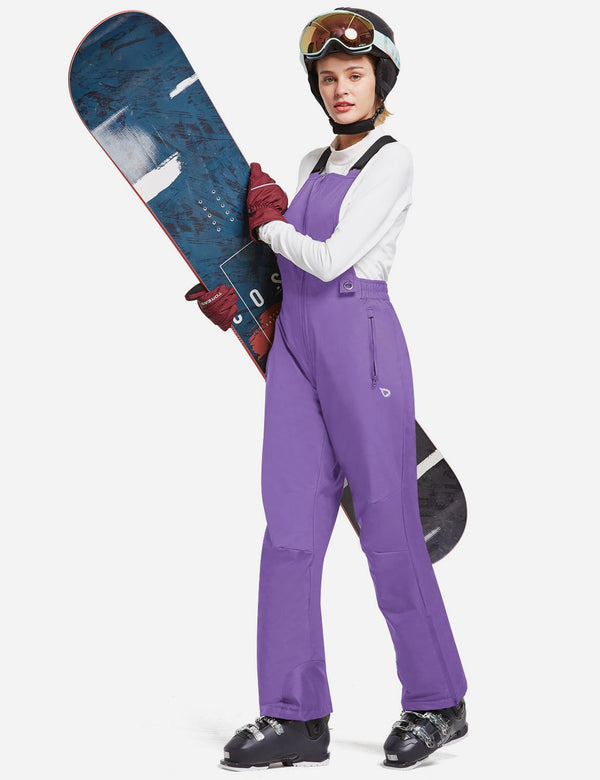 Baleaf Women Insulated Snowboard & Ski Bib One Piece Overall Purple Full