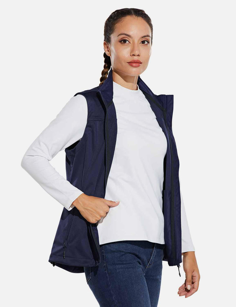 Baleaf Womens Windproof & Waterproof Sleeveless Vest w Full Zip Pocket Navy Blue side