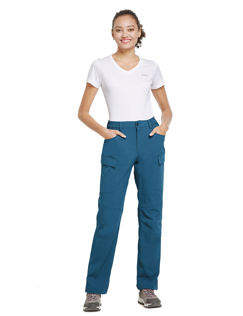 Baleaf Women UPF50+ Water Resistant Outdoor Convertible Pants Blue Full