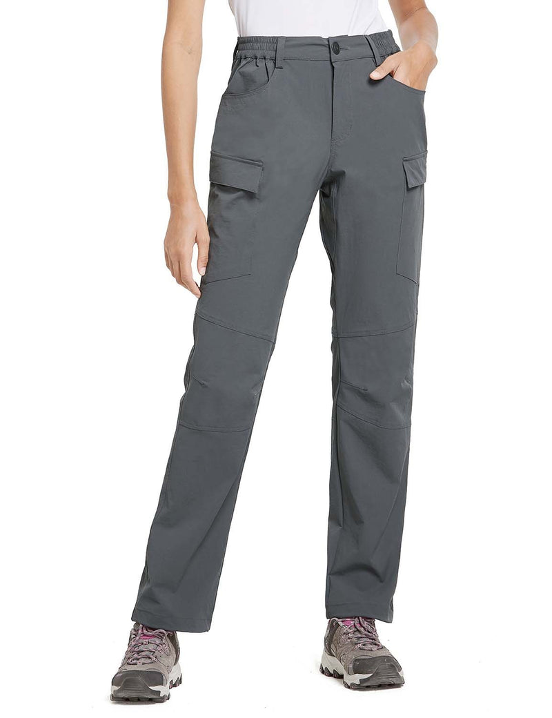 Baleaf Womens UPF 50+ Water Resistant Outdoor & Hiking Athletic Stretch Pants Gray side