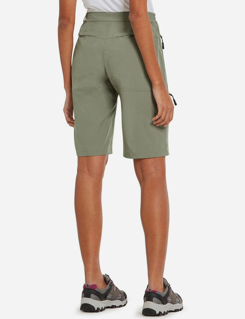 Baleaf Womens UPF 50+ Quick Dry Water Repellent Pocketed Outdoor Shorts Raw Khaki back