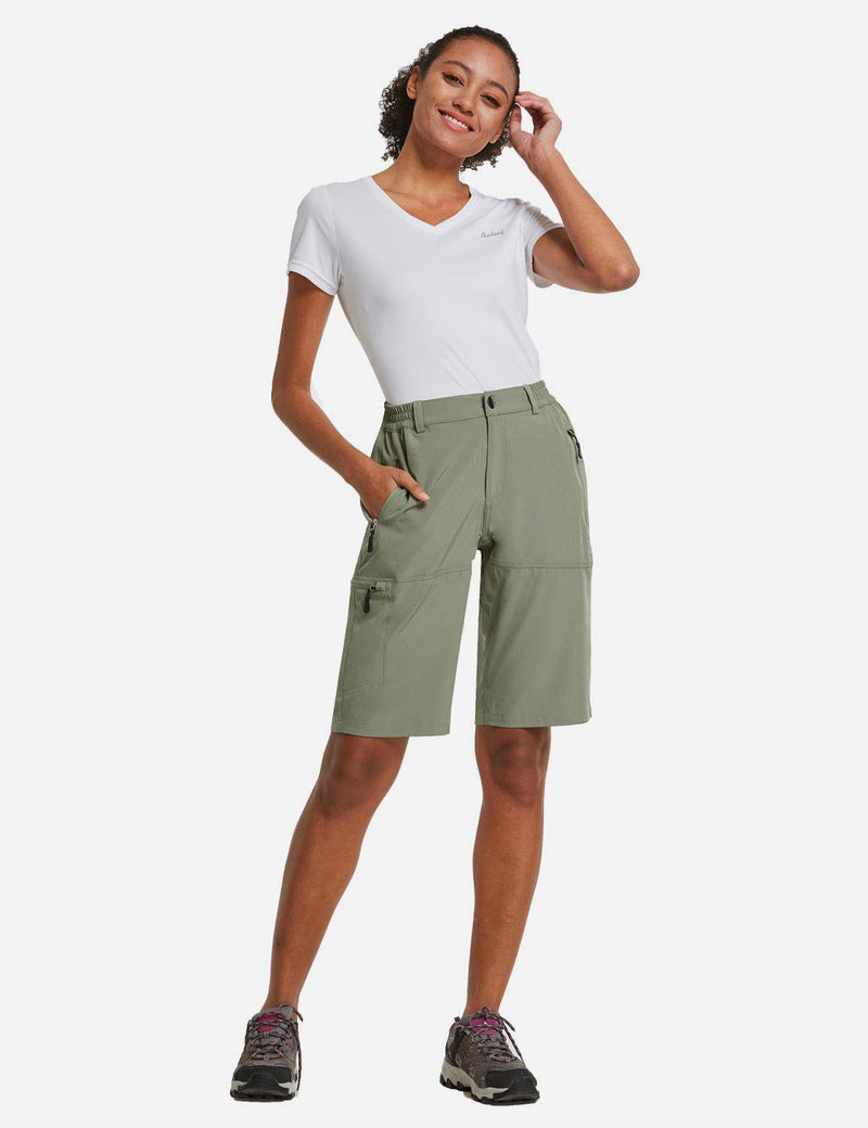 Baleaf Womens UPF 50+ Quick Dry Water Repellent Pocketed Outdoor Shorts Raw Khaki full