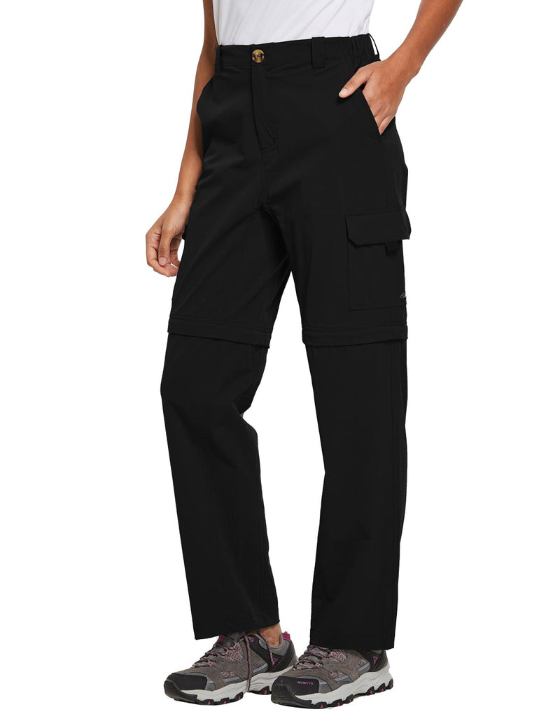 Baleaf Womens UPF 50+ Quick Dry Convertible Hiking & Outdoor Pants Black side